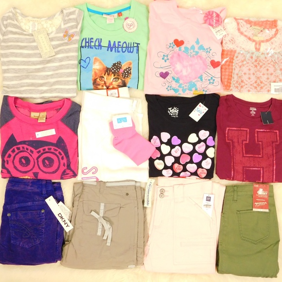 Mudd Other - Girls Size 12 Clothes Lot Tops Pants Outfits NWT